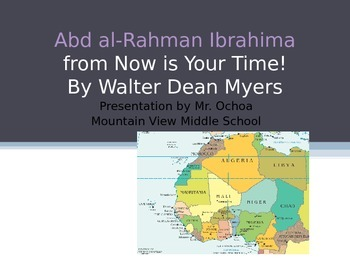 Abd al-Rahman Ibrahima from Now is Your Time! Vocabulary Power Point