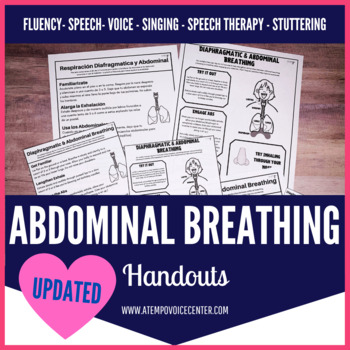 Abdominal & Diaphragmatic Breathing Handout for Fluency, Voice, more!