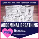 Abdominal & Diaphragmatic Breathing Handout for Fluency, V