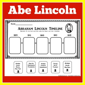 FREE Abe Lincoln Timeline Activity