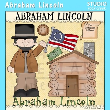 Abe Lincoln US History Color Clip Art  C. Seslar