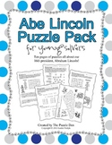 Abe Lincoln Puzzle Pack for Young Solvers - 10 puzzles about our 16th President
