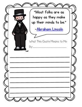 Abe Lincoln Quote Activity