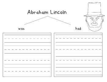 Abe Lincoln and George Washington Writing