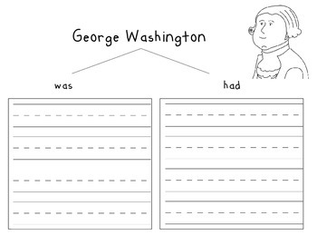 Abe Lincoln and George Washington Writing