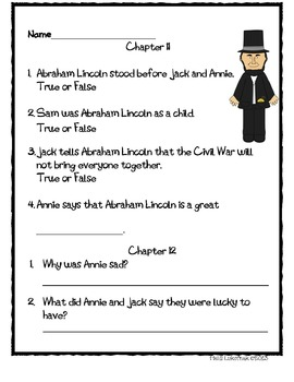 Abe Lincoln at Last! Comprehension Packet