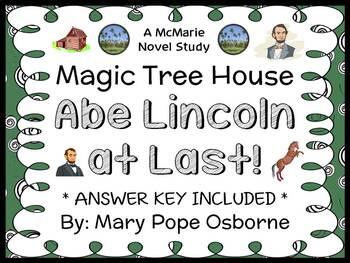 Abe Lincoln at Last!: Magic Tree House #47 (Osborne) Novel Study / Comprehension