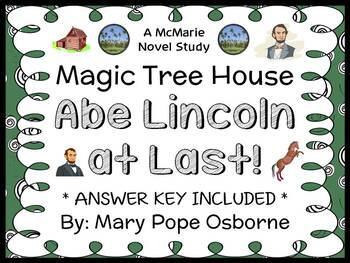 Abe Lincoln at Last!: Magic Tree House #47 (Osborne) Novel Study / Comprehension