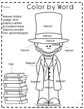 Abe Lincoln's Hat Activities