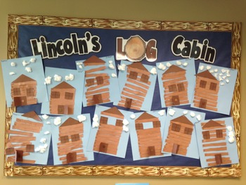 Abe Lincoln's Log Cabin Craftivity
