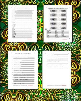 Abe Lincoln's Hat by Martha Brenner Vocab.,Wordsearch,Book Questions Bundle