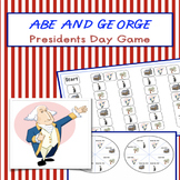 Presidents Day Board Game Abe and George