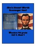Abe's Honest Words Scavenger Hunt (4th grade Wonders; Unit