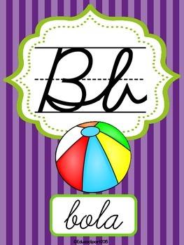 Abecedario Cursivo Multicolor
