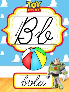 Abecedario Cursivo Toy Story