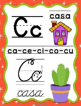 Abecedario Manuscrito/Cursivo cactus