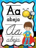 Abecedario Manuscrito y Cursivo Superhéroes - Superhero Spanish ABC