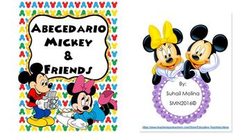Abecedario - Motivo Mickey & Friends