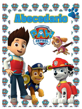 Abecedario - Motivo Paw Patrol