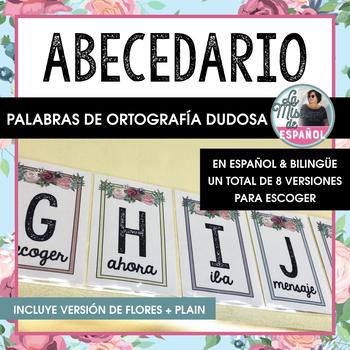 Abecedario Ortografía Dudosa Español Bilingüe Rosas | Bilingual Alphabet