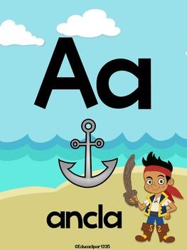 Abecedario - Posters Jake and the Neverland Pirates