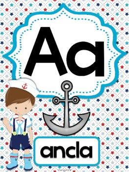 Abecedario - Posters Nautical Kids