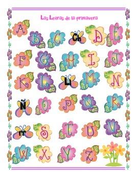 Abecedario Primavera