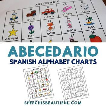 Abecedario - Spanish Alphabet Charts in Color and Black and White