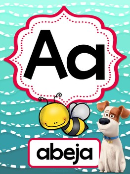 "Abecedario ""The secret life of pets"" (Las Mascotas)"