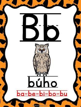 Abecedario de animales (Spanish ABC Animal Posters)