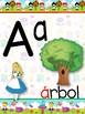 Abecedario en español de Alice in Wonderland