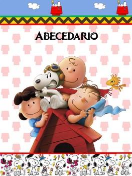 Abecedario en español de Snoopy