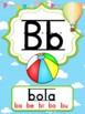 Abecedario manuscrito - globos aerostáticos (Hot air balloons Spanish ABC)
