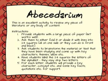 Abecedarium: A Review Activity