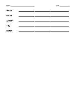 Abeka Grade 2 Spelling List 16
