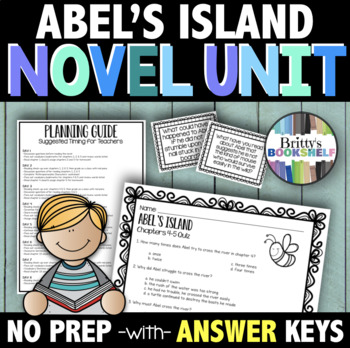 Abel's Island by William Steig Literature Unit (A Novel Study)