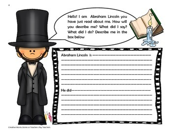 Abe's Honest Words - 4th Grade Tri Folds+ Activities