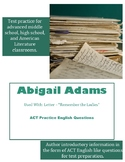Abigail Adams ACT English Practice Questions