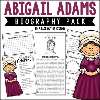 Abigail Adams Biography Pack | Distance Learning