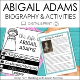 Abigail Adams Biography and  Reading Response Activities |