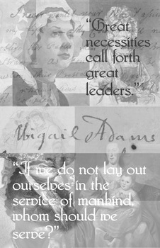 Abigail Adams - Poster with Quotes