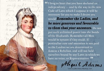 abigail adams letter to john adams abigail quote poster quot remember the quot tpt 6123