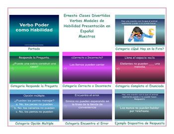 Ability Modal Verbs Spanish PowerPoint Presentation