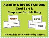Abiotic & Biotic Factors Card Sort and Response Cards Activity