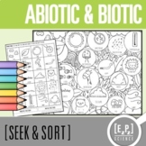 Abiotic & Biotic Factors Seek and Sort Science Doodle & Card Sort