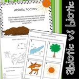 Abiotic & Biotic Factors Worksheets