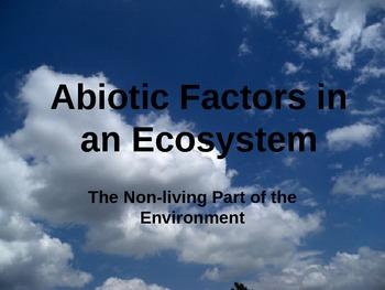 Abiotic Factors in an Ecosystem