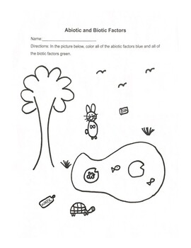 Abiotic and Biotic Coloring Page