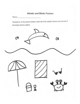 Abiotic and Biotic Factors Coloring Page 2
