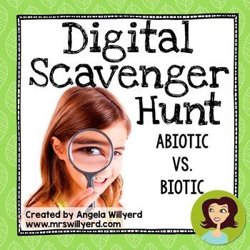 Abiotic and Biotic Factors {Non-Living / Living} Digital Scavenger Hunt - SMART